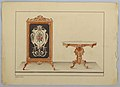 Drawing, Fire Screen and marble-top Table, 1860 (CH 18801943).jpg