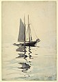 Drawing, Two-masted Schooner with Dory, 1894 (CH 18174241).jpg