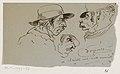 Drie karikaturale mannenhoofden, RP-T-1994-86.jpg