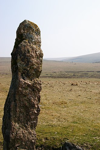 Devon - Menhir at Drizzlecombe