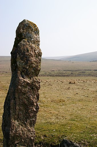 Menhir at Drizzlecombe Drizzlecombe stones 6.JPG