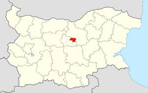Dryanovo Municipality - Image: Dryanovo Municipality Within Bulgaria