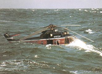 Bristow Helicopters Flight 56C - Helicopter floating after ditching