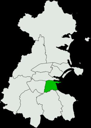 Dublin South–East (Dáil Éireann constituency) - Image: Dublin South East Dáil Éireann constituency