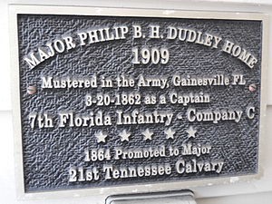 Dudley-Bessey House - Plaque on entrance from street