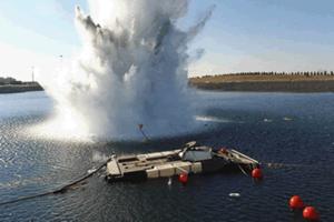 Expeditionary Fighting Vehicle - EFVP1 engineering prototype undergoing shock testing
