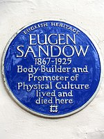 EUGEN SANDOW 1867-1925 Body-Builder and Promoter of Physical Culture lived and died here.jpg
