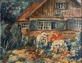 E Vollmer – (Aqu) Garten und Haus des Künstlers 1944.jpg