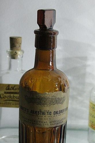 Robert Mortimer Glover - Early chloroform bottle, Hunterian Museum, Glasgow