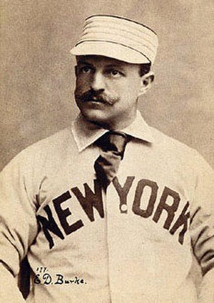 Eddie Burke (baseball) - Image: Eddie Burke 1895 N566 Newsboy Tobacco Cabinet Card