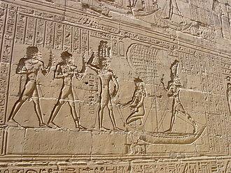 Temple of Edfu - Reliefs on the walls of the Temple of Edfu