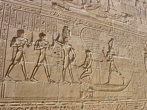 Edfu temple relief by John Campana