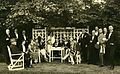Edgar Grönblom in the garden with his guests (Sm 10009) (27576271450).jpg