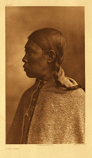 Lummi - Lummi woman, ca. 1907-1930, photograph by Edward S. Curtis