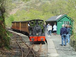 Nant Gwernol railway station Railway station near Abergynolwyn, Wales