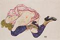 Egon Schiele - Kniende mit hinunter gebeugtem Kopf - 1915.jpeg