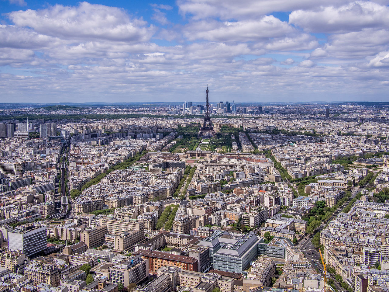 Eiffel Tower from Tour Montparnasse