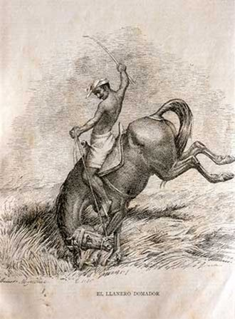 Llanero - Illustration of a Venezuelan llanero by Celestino Martínez, 1892