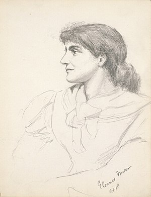 Eleanor Marx - Eleanor Marx, pencil drawing by Grace Black in 1881