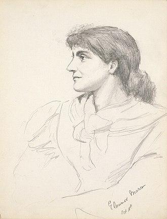 Eleanor Marx - Eleanor Marx, pencil drawing by Grace Black in 1881