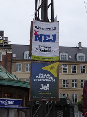 Danish European Union opt-out referendum, 2015 - Election posters in Copenhagen