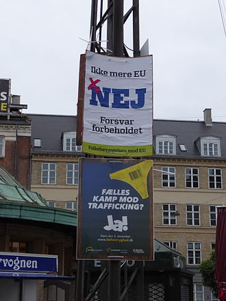 2015 Danish European Union opt-out referendum - Election posters in Copenhagen