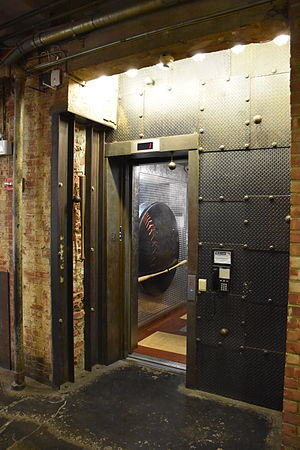 Chelsea Market - Image: Elevator to MLB.com office in Chelsea Market, New York City