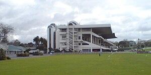 Ellerslie Racecourse - The main stand at Ellerslie Racecourse