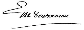 Emile Verhaeren - Image: Emile Verhaeren's signature