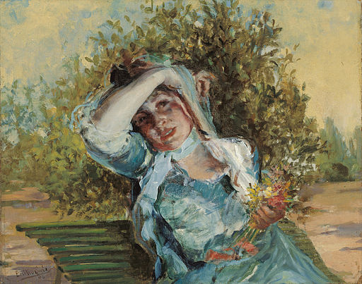 Emilio Sala Francés Girl with Flowers