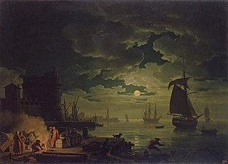 Entrance to the Port of Palermo by Moonlight