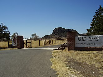 Fort Davis National Historic Site - Image: Entranceto Fort Davisnational Historic Site