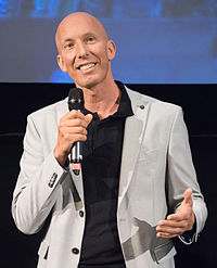 Erik Gandini under presentationen av filmen The Swedish Theory of Love i Filmhuset i Stockholm 2015.