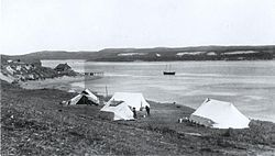 Establishing at Great Whale River Preliminary Camp 1922.jpg