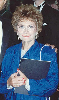 Estelle Getty vid Emmy-galan 1989.