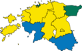 Estonian Election 2019 Largest Party By Electoral Districts.png