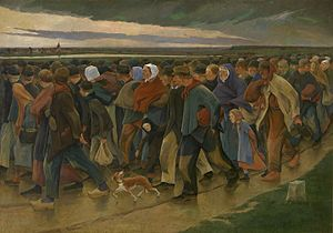 Belgian Americans - The Emigrants (1896) by the Belgian artist Eugène Laermans
