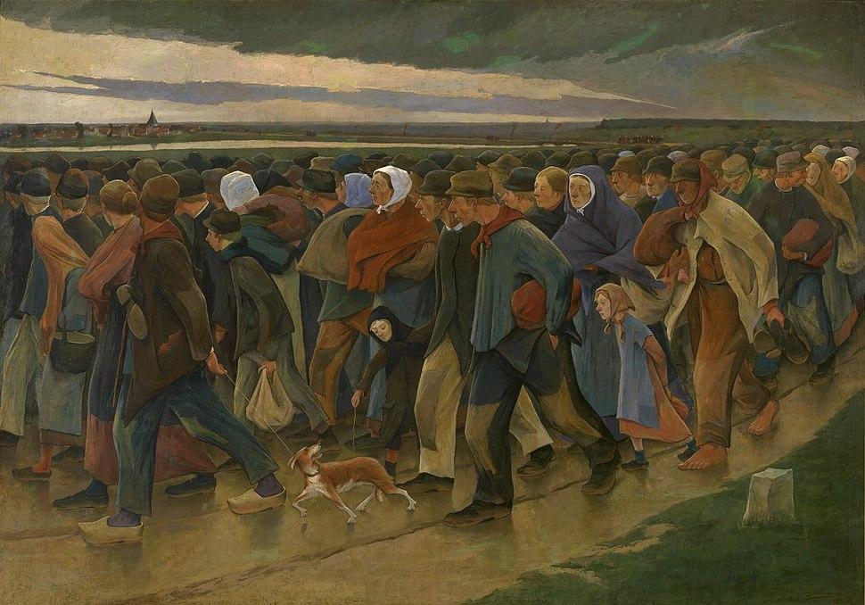 Eugène Laermans - Landverhuizers (KMSKA) (center panel - Laatste blik)