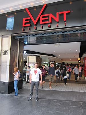 Event Cinemas - A man outside an Event Cinemas theatre