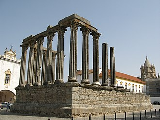 Hispania - The Roman Temple of Évora (Liberatias Iulia), Alentejo, Portugal.