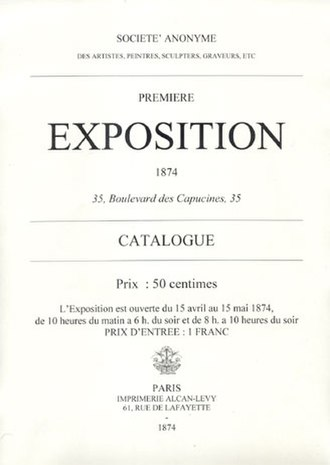Impression, Sunrise - Catalogue for the 1874 Impressionist Exhibition