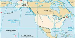 List Of Extreme Points Of The United States Wikipedia - Most northerly state usa
