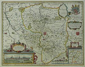 Prince-Bishopric of Osnabrück - Map of the Prince-Bishopric in 1642