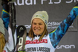 FIS Alpine Skiing World Cup in Stockholm 2019 Anna Swenn Larsson 4.jpg