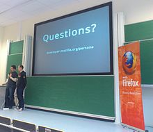 Mozilla presenters at FOSDEM