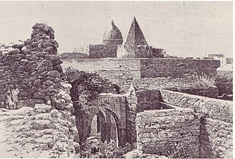Mogadishu - Engraving of the 13th century Fakr ad-Din Mosque built by Fakr ad-Din, the first Sultan of the Sultanate of Mogadishu