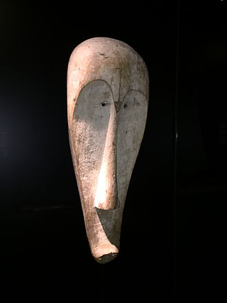 Traditional African masks - A mask used in ngil magic ceremonies of the Fang people of Gabon. Ethnological Museum of Berlin