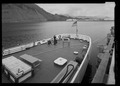 Fantail section from portside and dock - USS SHACKLE, ARS 9, Ketchikan, Ketchikan Gateway Borough, AK HAER AK-49-12.tif