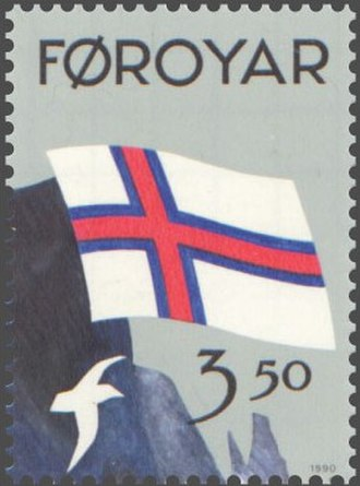 Flag Day - Stamp celebrating 50th Flag Day of the Faroe Islands