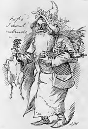 1897 engraving of Father Christmas
